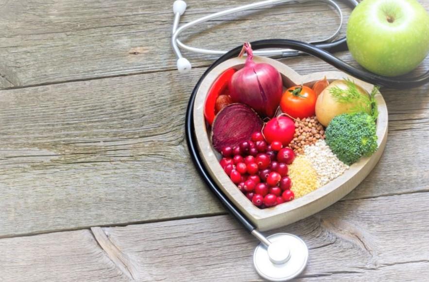 corazon n de verduras y frutas vida sana