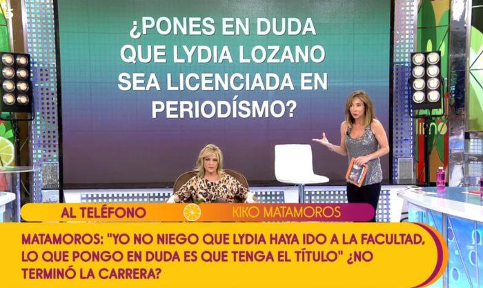 lydia lozano no es periodista acusaciones