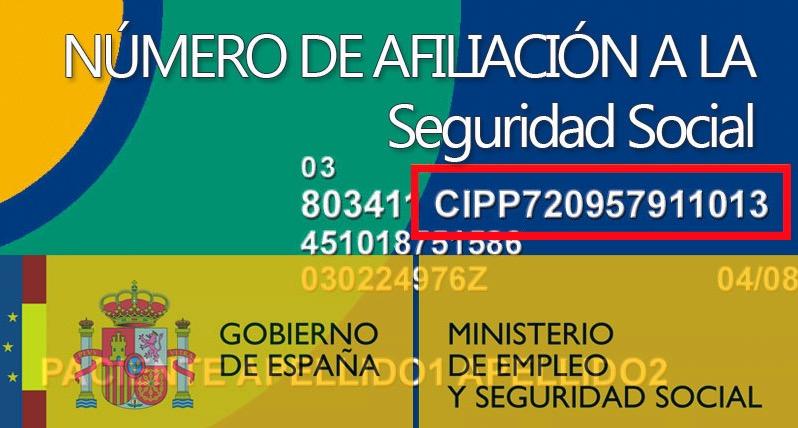 numero de afiliación a la seguridad social
