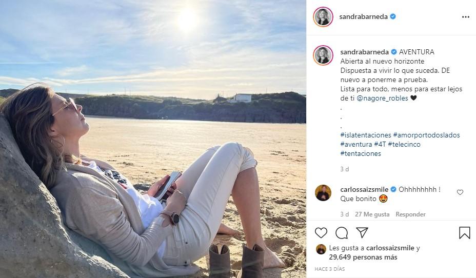 sandra barneda instagram la isla de las tentaciones